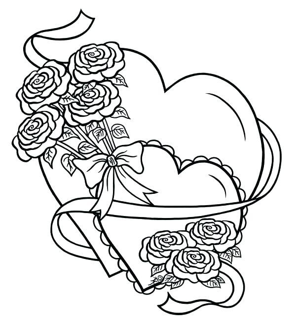 Tranh vẽ tô màu hoa hồng cho bé cực đẹp