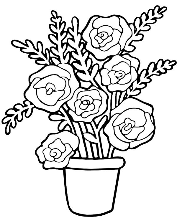 Tranh vẽ tô màu hoa hồng đẹp nhất cho bé