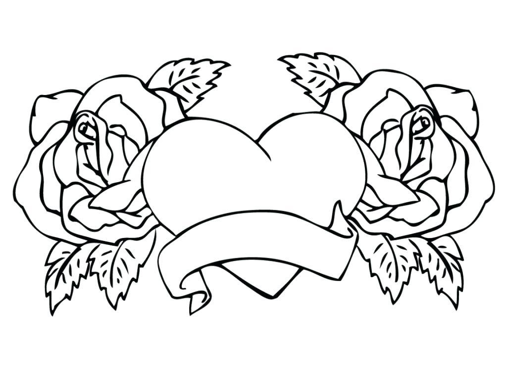 Tranh vẽ tô màu hoa hồng đơn giản đẹp