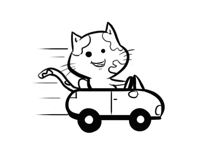 Tranh vẽ tô màu xe ô tô cho bé cực đẹp