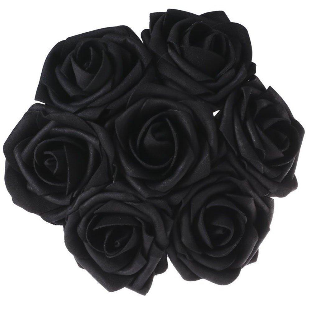 Bảy bông hoa hồng đen chụm vào nhau rất đẹp