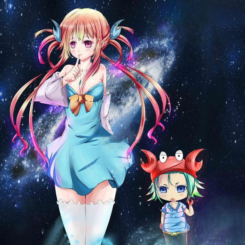 Hình ảnh anime cung Cự Giải đẹp