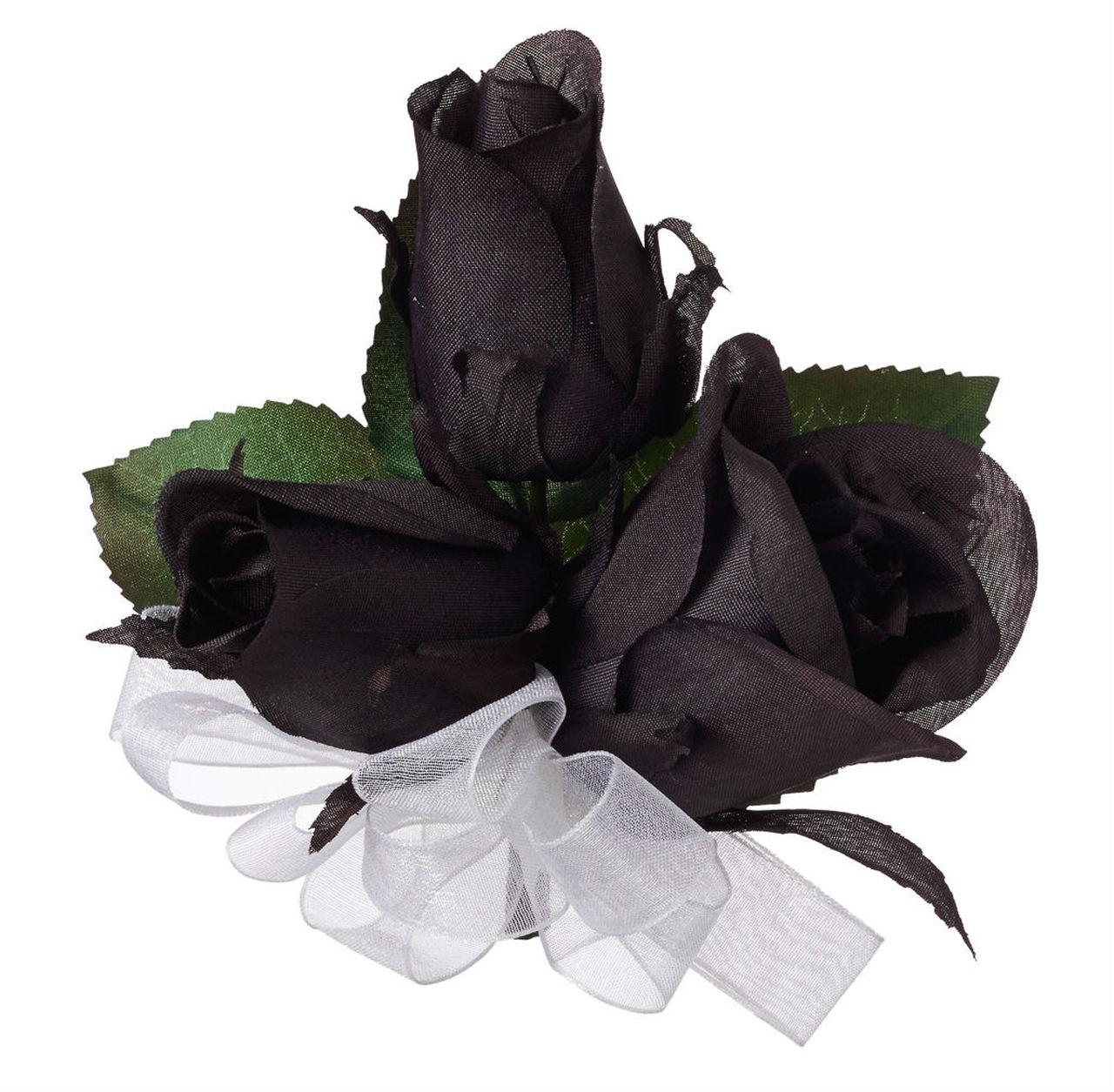 Hình ảnh ba hông hoa hồng đen giả