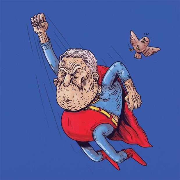 Hình ảnh chế Superman