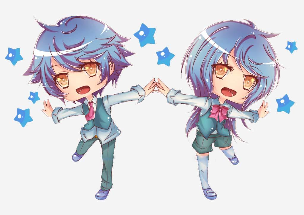 Hình ảnh chibi anime cung Song Tử