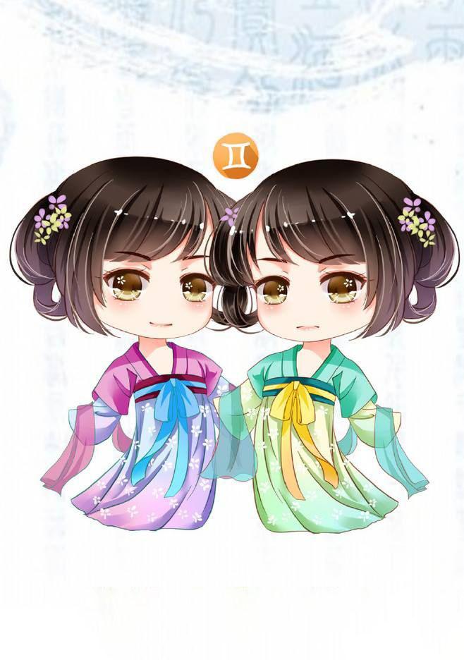 Hình ảnh chibi cung Song Tử dễ thương