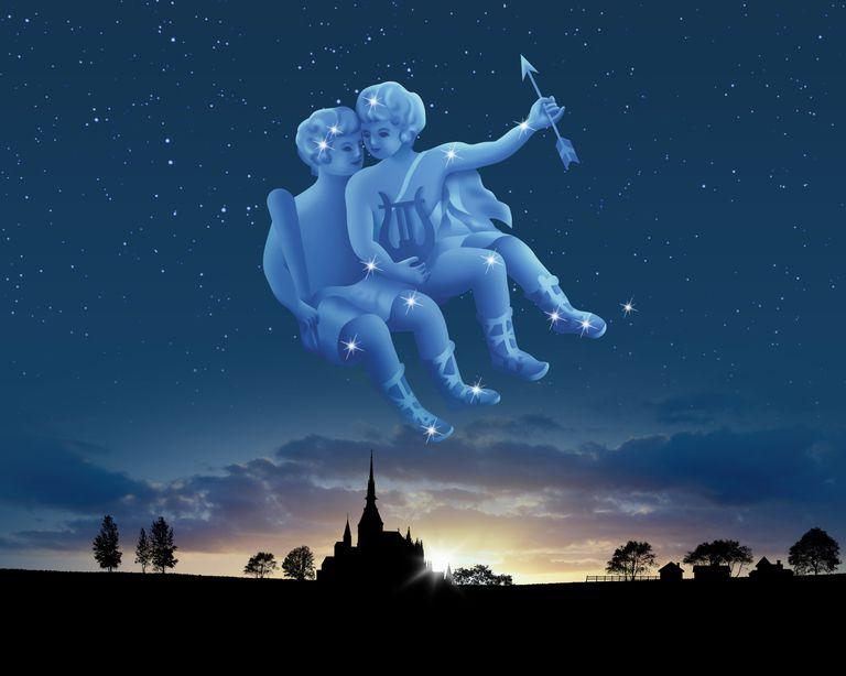 Hình ảnh cung Song Tử trên bầu trời