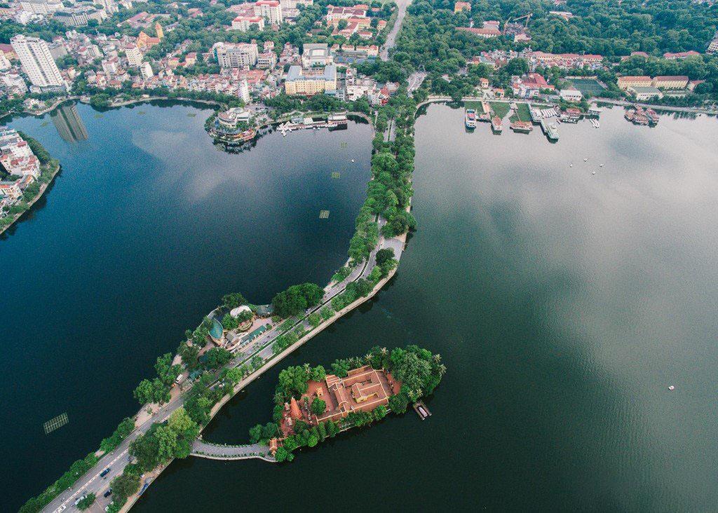 Hình ảnh Hồ Tây từ trên cao