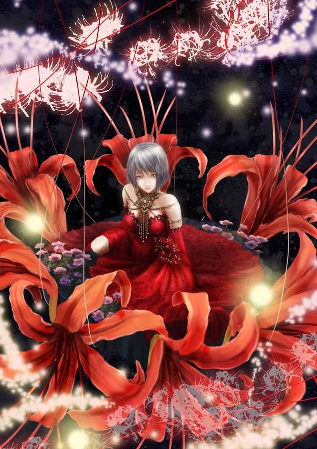 Hình ảnh hoa bỉ ngạn anime Nhật Bản