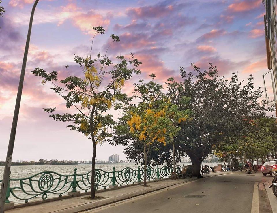 Hình ảnh một góc phố Hồ Tây