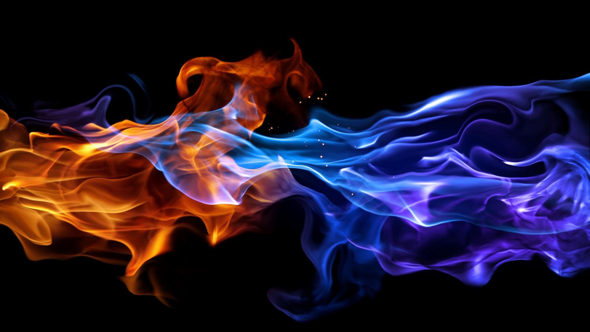Hình ảnh ngọn lửa bếp