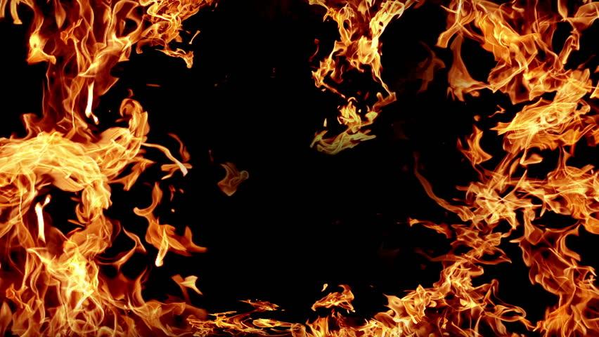 Hình ảnh ngọn lửa bùng lên