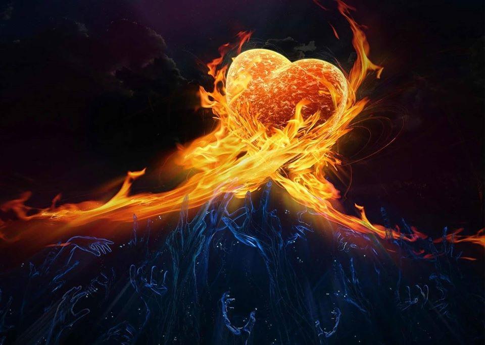 Hình ảnh ngọn lửa tình yêu