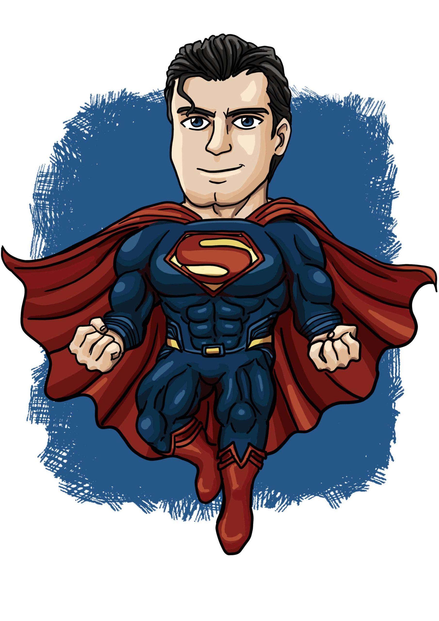 Hình ảnh Superman chibi đẹp