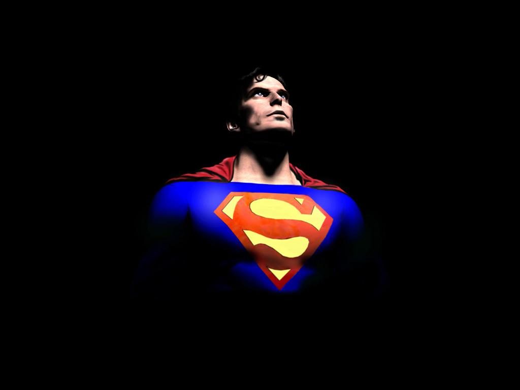 Hình ảnh Superman trong bóng tối