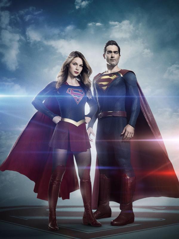 Hình ảnh Superman và Supergirl