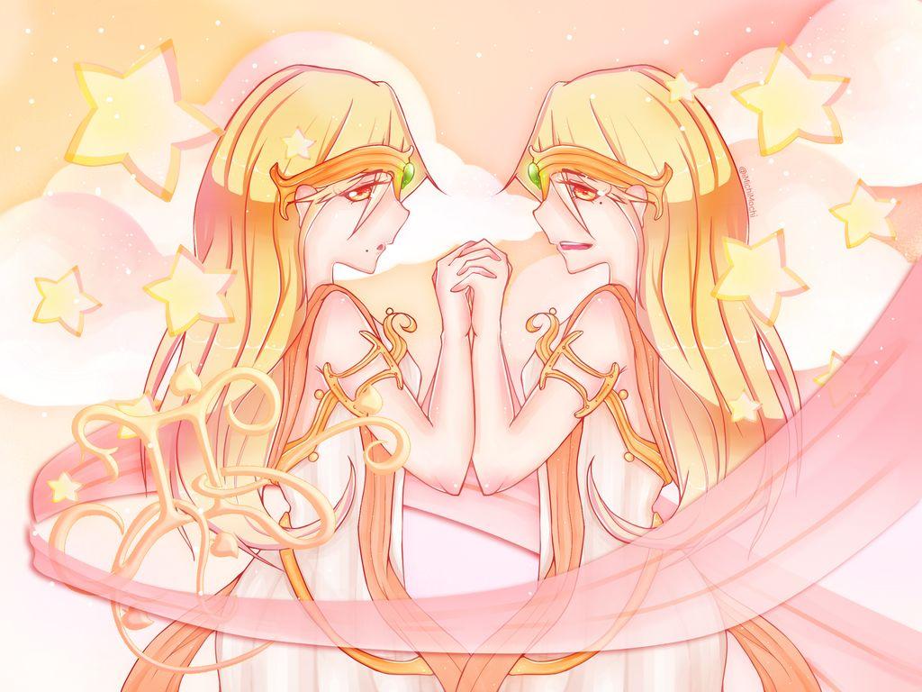 Hình vẽ anime cung Song Tử đẹp