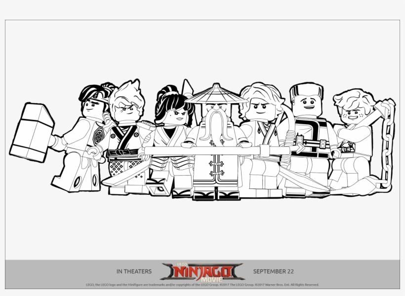 Tranh tô màu biệt đội ninjago