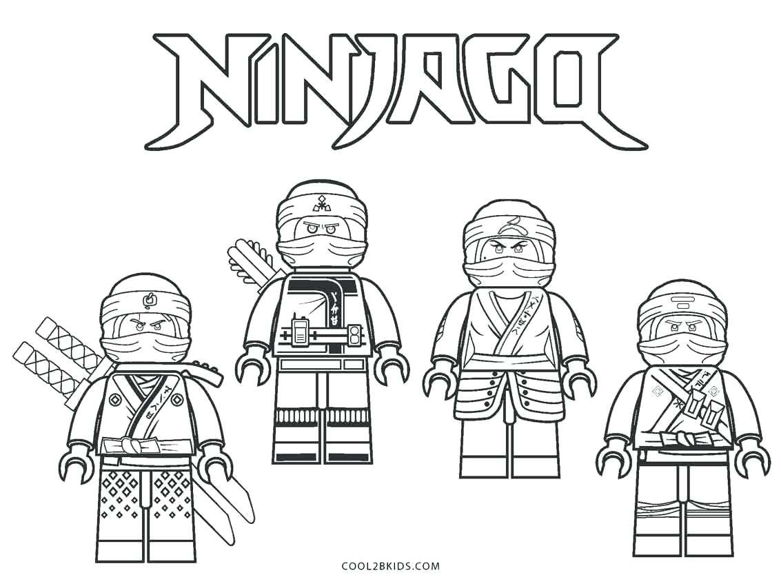 Tranh tô màu bốn ninjago rất đẹp