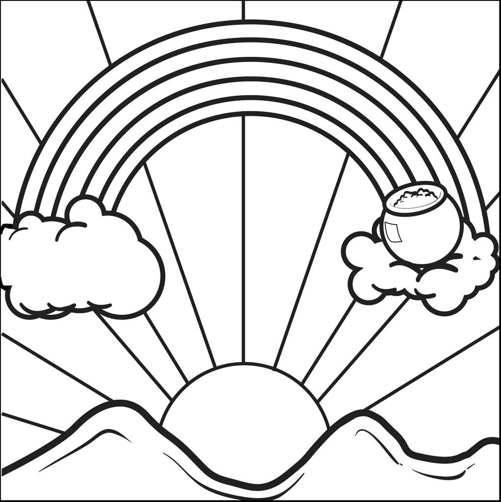 Tranh tô màu cầu vồng đơn giản