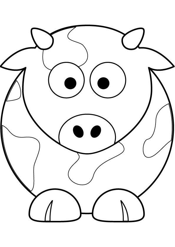 Tranh tô màu con bò đẹp nhất cho bé