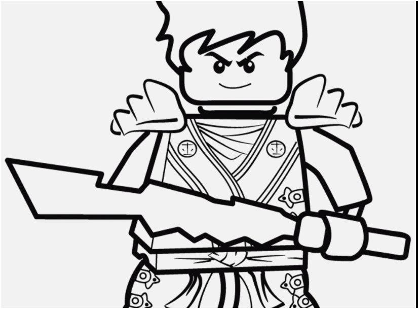Tranh tô màu ninjago cầm đao không che mặt