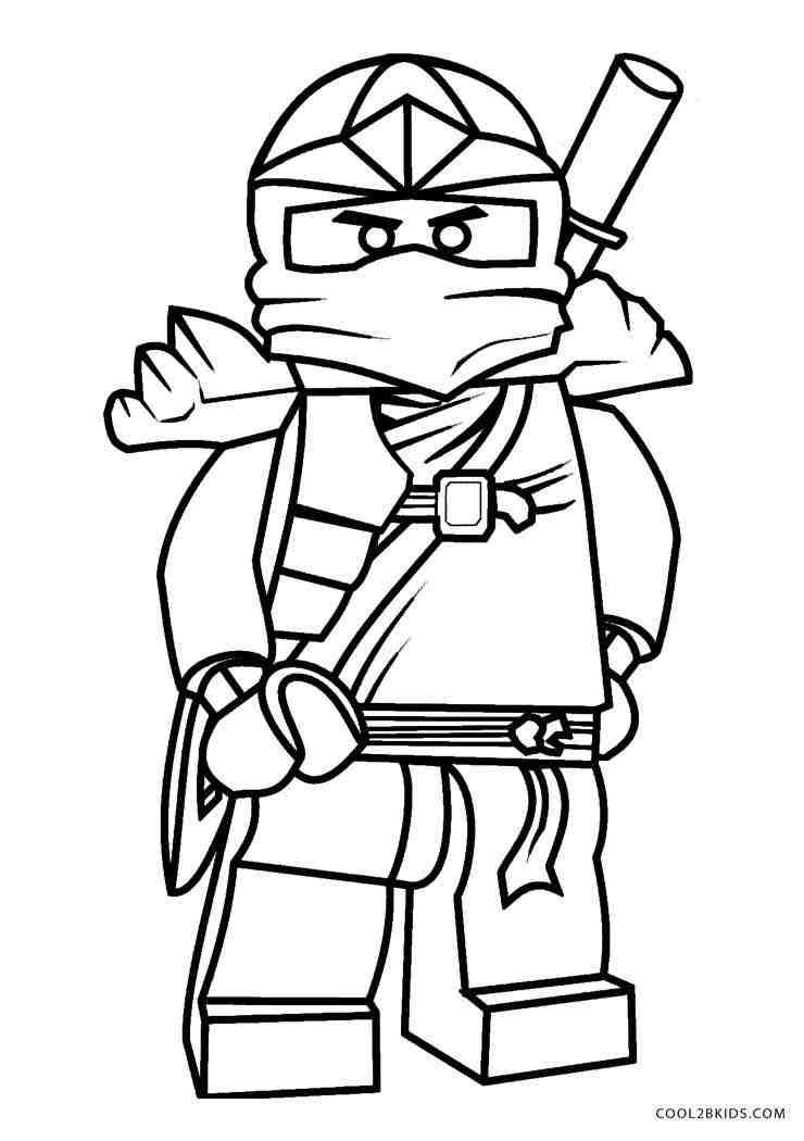 Tranh tô màu ninjago chống eo đứng