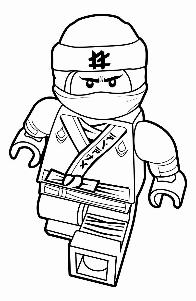 Tranh tô màu Ninjago lego rất đẹp mắt