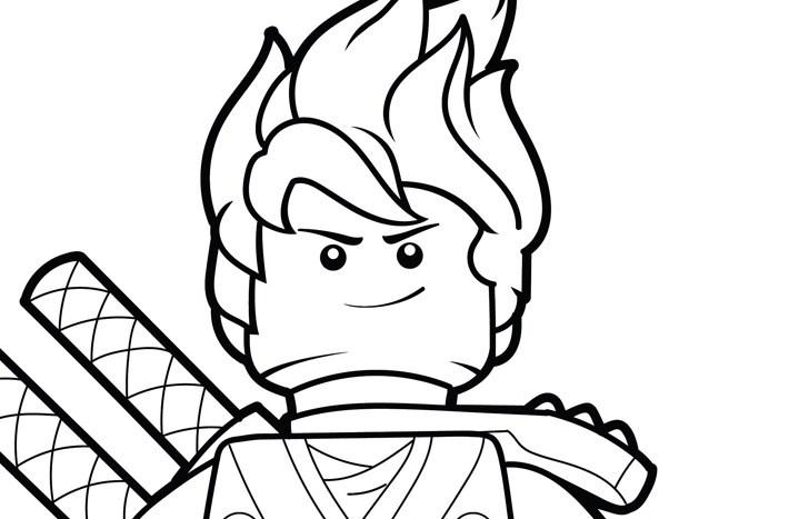 Tranh tô màu ninjago mái tóc bốc lửa