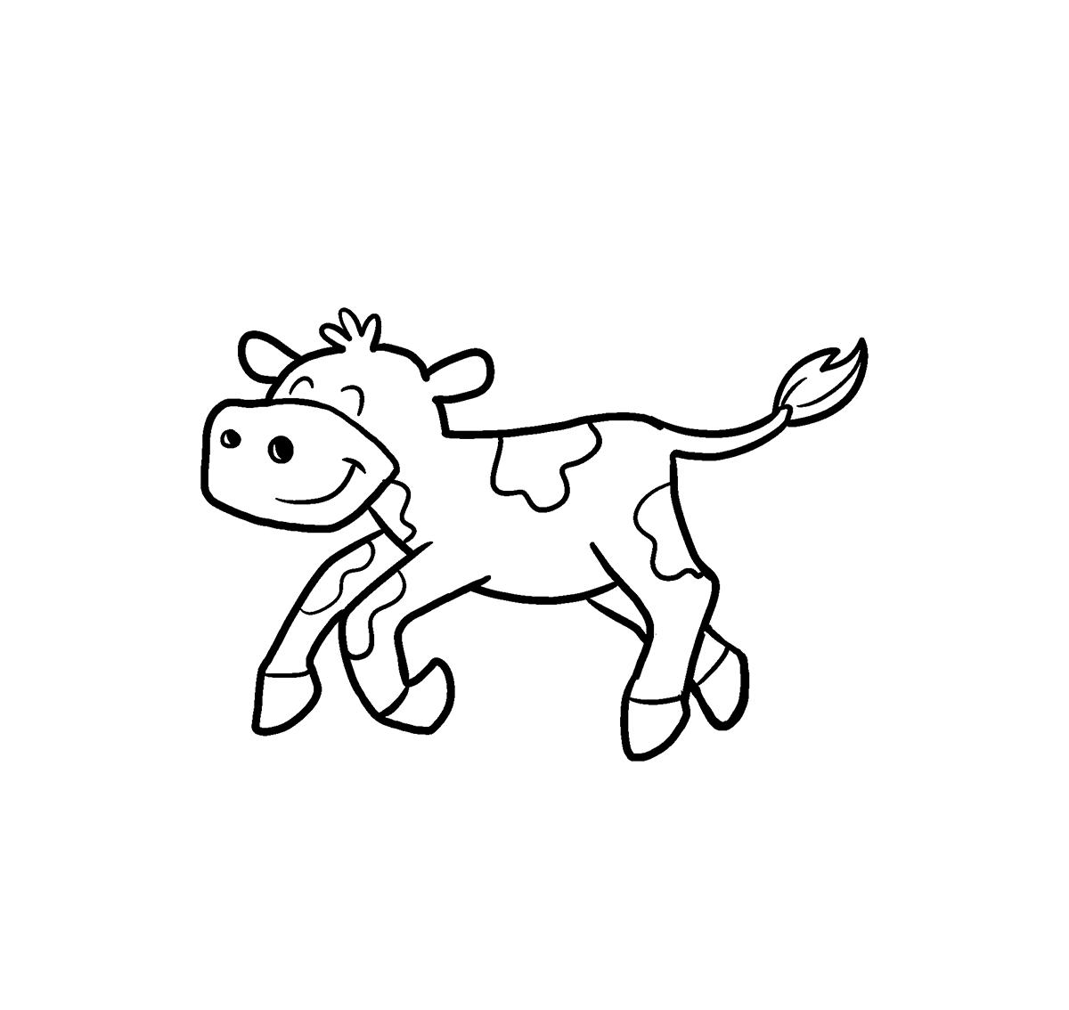 Tranh vẽ tô màu con bò