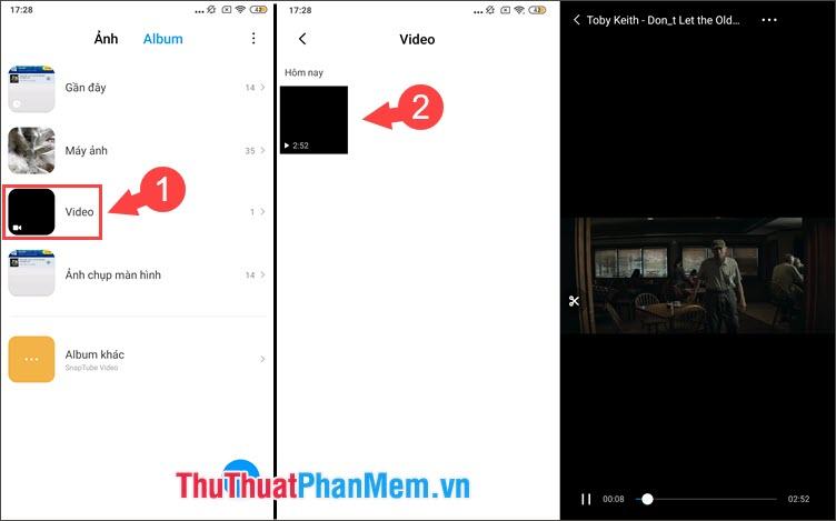Chọn Video tải về và xem