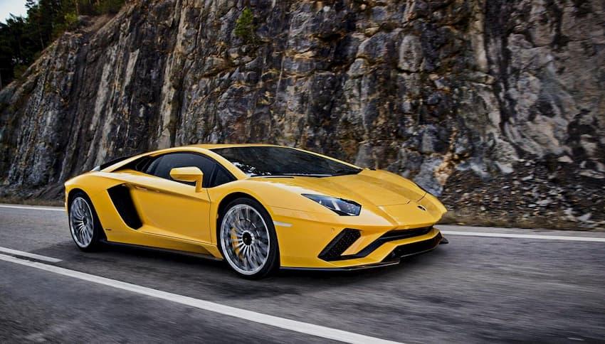Hình ảnh siêu xe Lamborghini vàng