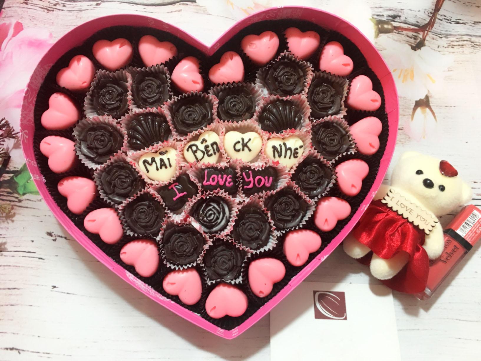 Hình ảnh trang trí socola valentine