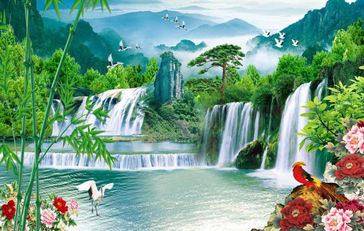 Hình ảnh tranh thác nước đẹp