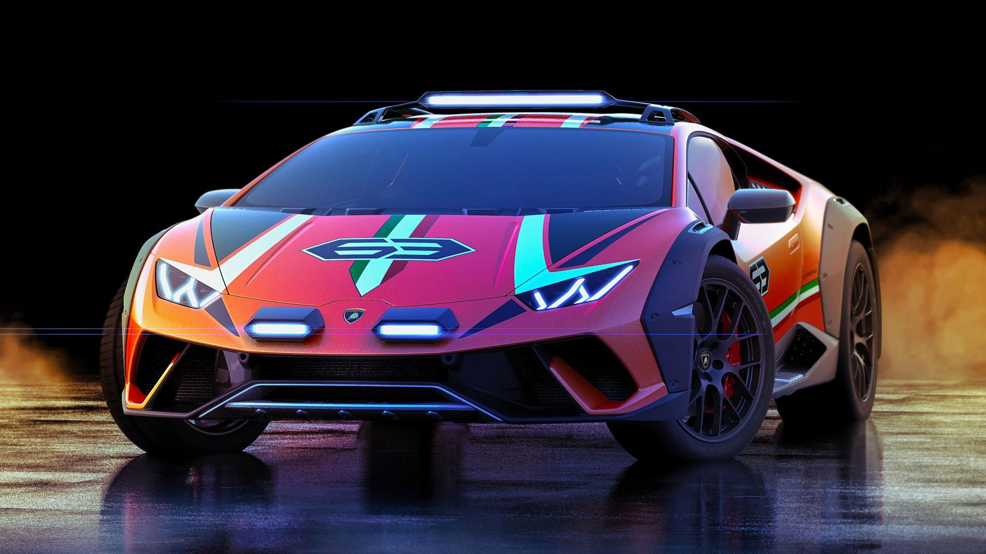 Hình ảnh xe Lamborghini địa hình