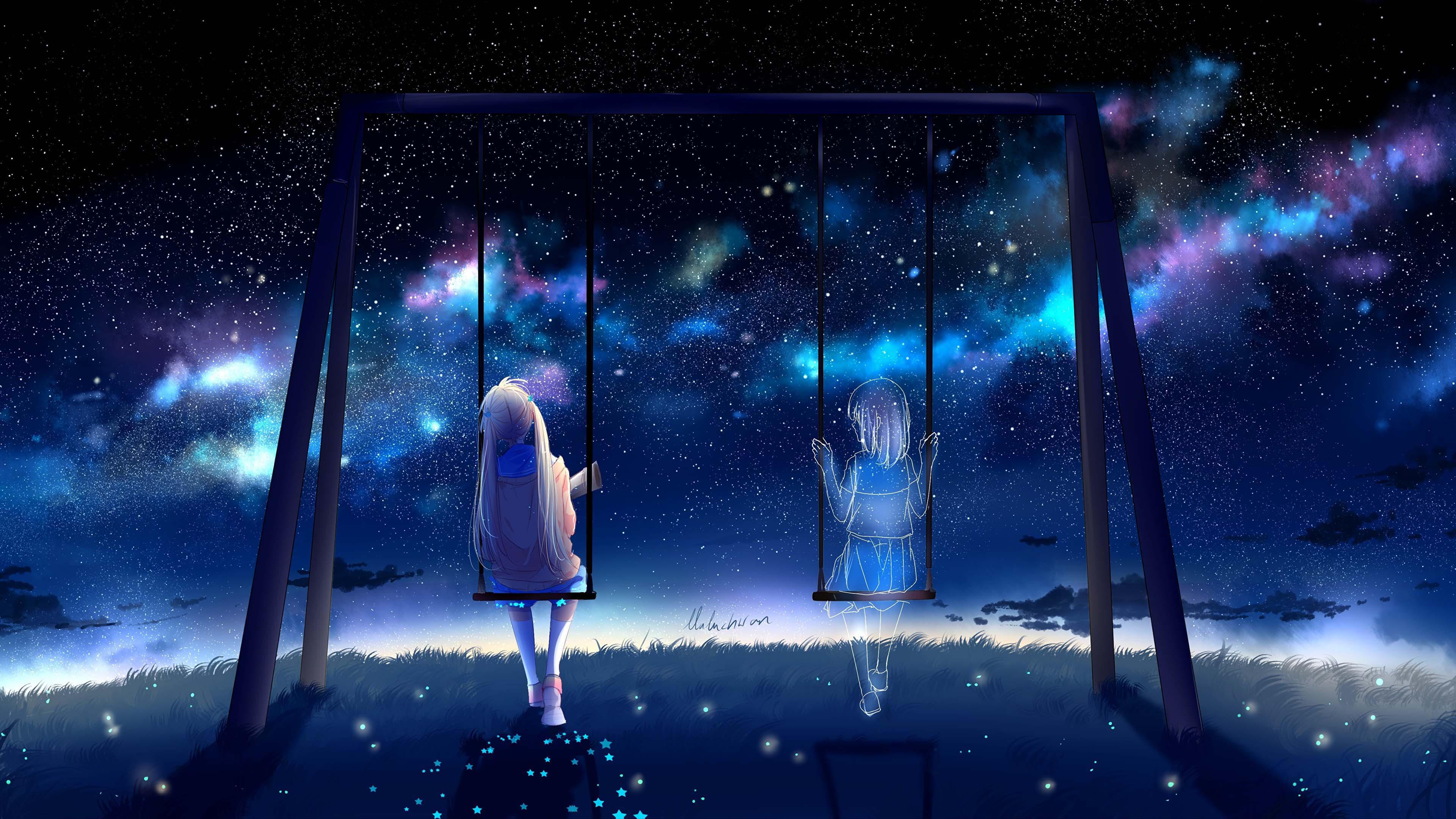 Hình nền anime 4K lãng mạn