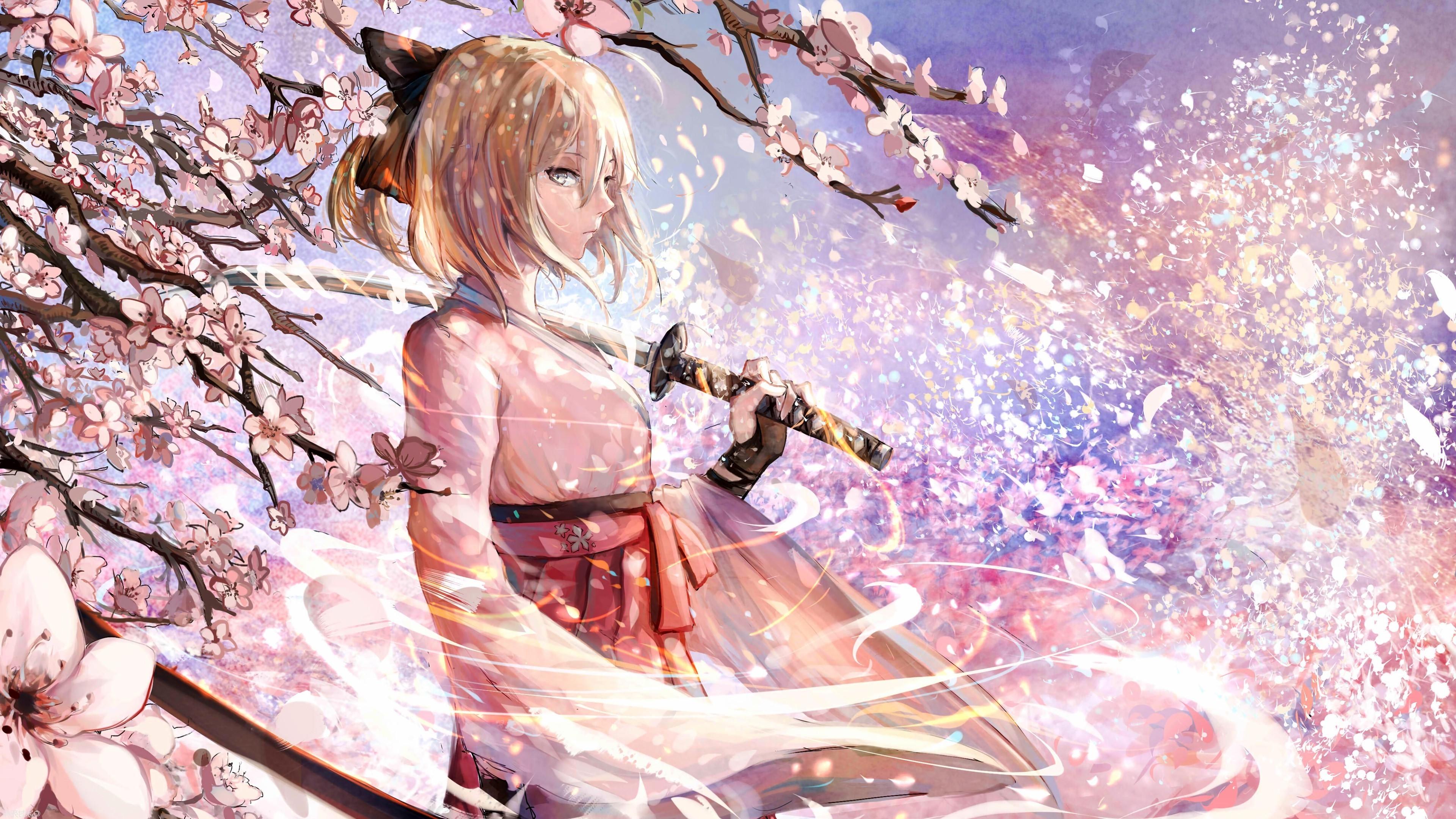 Hình nền anime hoa anh đào