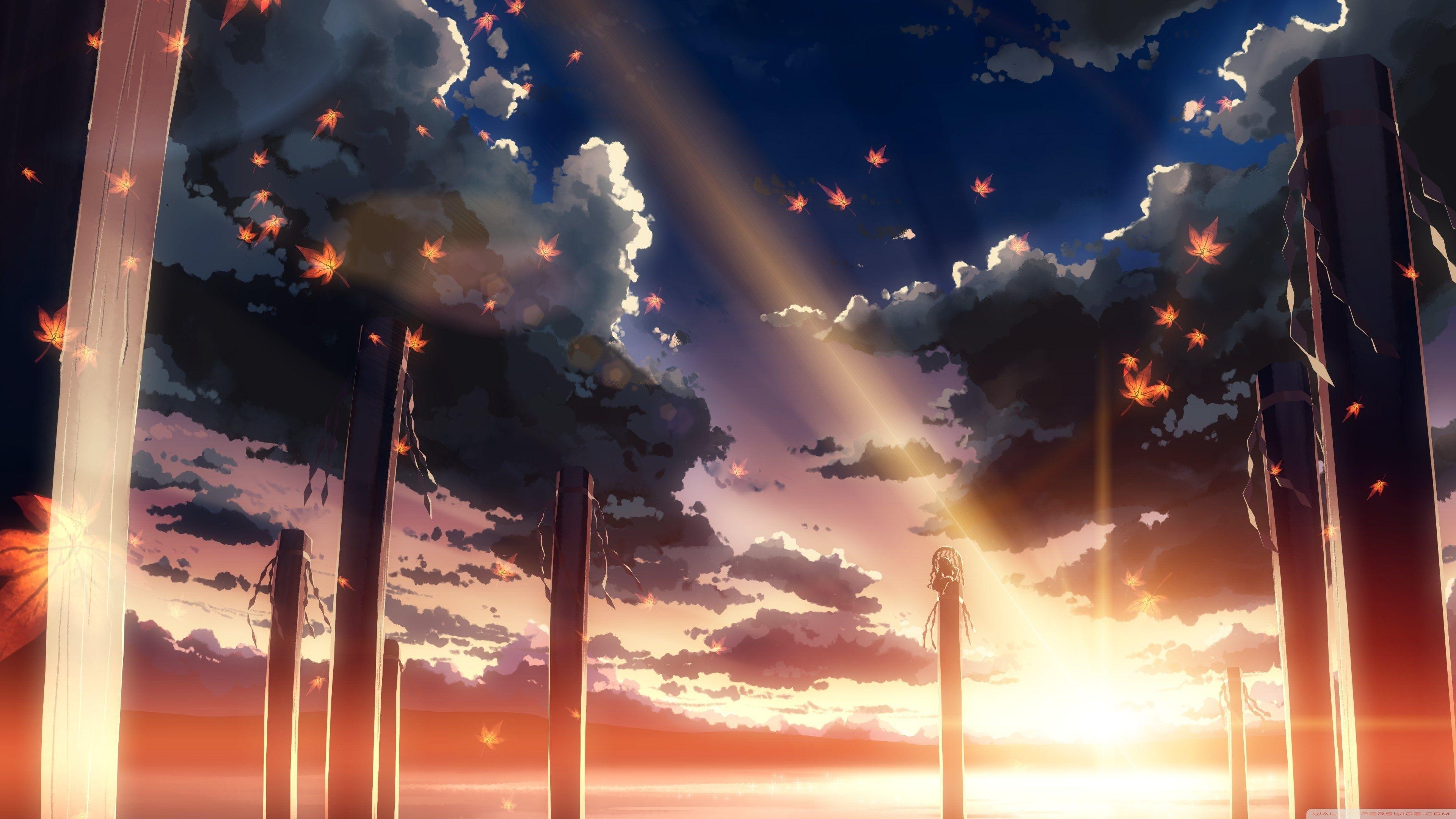 Hình nền anime thiên nhiên 4K