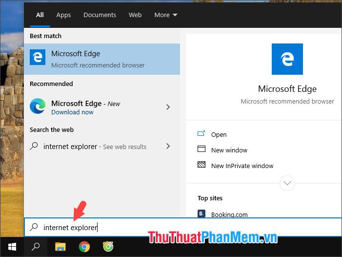Bạn thử mở Search lên và tìm kiếm thì kết quả Internet Explorer không còn nữa là thành công