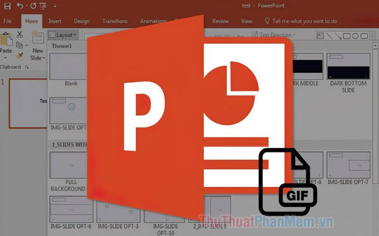 Cách tạo ảnh động GIF bằng PowerPoint