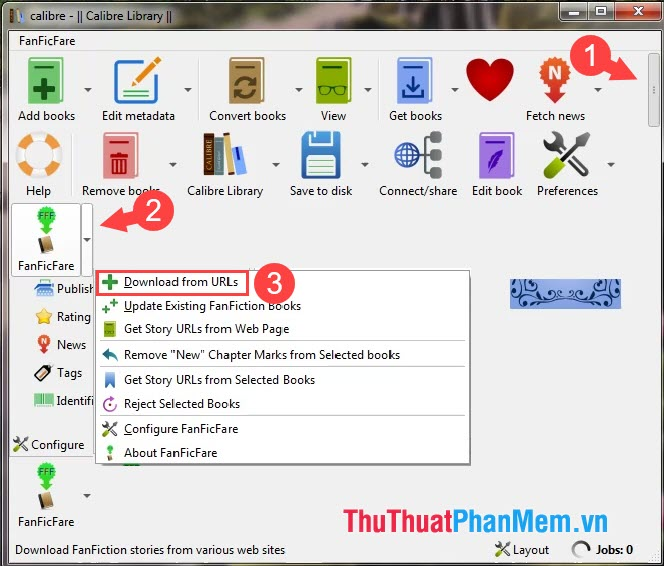Chọn Download From URLs