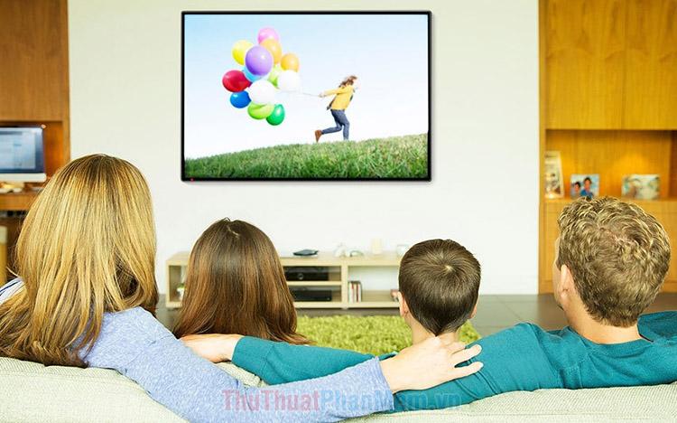 Khoảng cách xem tivi chuẩn cho từng loại tivi để an toàn cho mắt