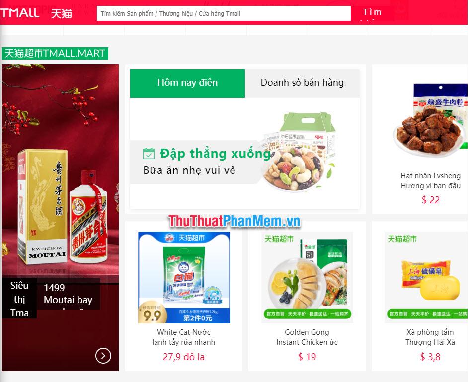Trang web Tmall được dịch sang tiếng Việt