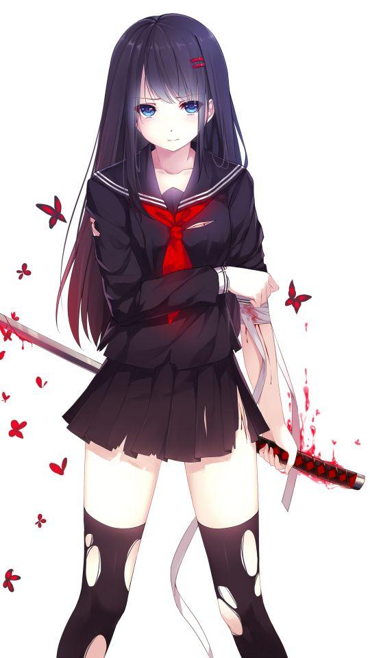 Ảnh nền anime nữ ngầu