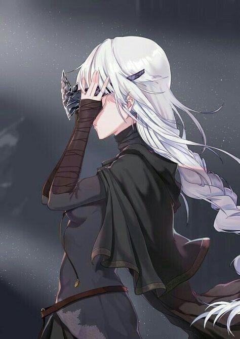 Hình ảnh anime girl tóc trắng ngầu