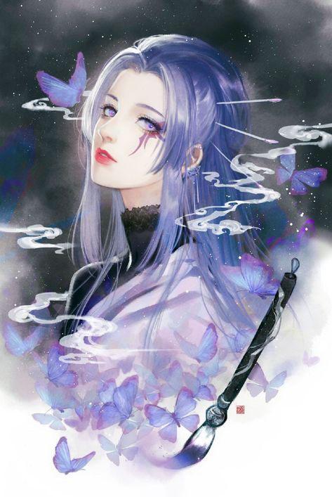Hình vẽ anime nữ ngầu