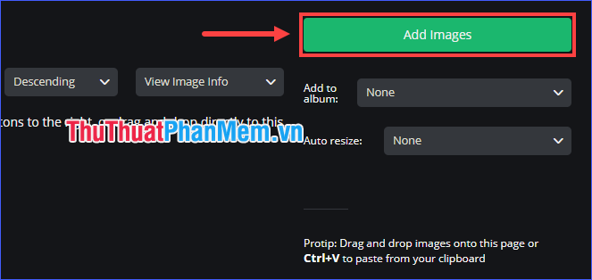 Chọn Add Images
