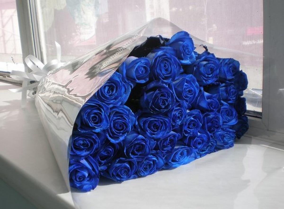 Ảnh bó hoa hồng xanh