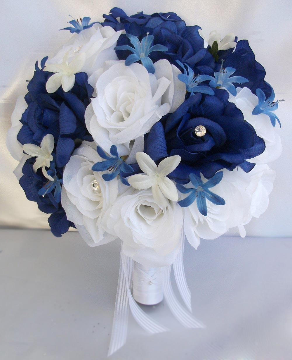 Bó hoa hồng xanh giả đẹp