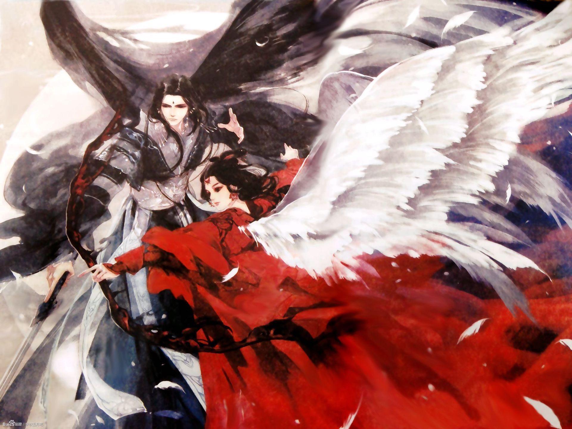 Hình ảnh anime cổ trang giương cung bắn